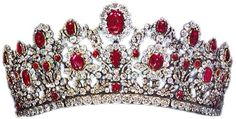 The French Crown Ruby Tiara, in the version made for the Duchess of Angoulême (Marie Louis) by Bapst-Ménière 1819. Thought to be in the Private Collection of Stavros Niarchos
