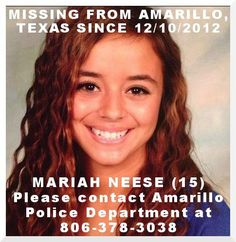HAPPY UPDATE - Mariah has been found safe in Tijuana, Mexico.