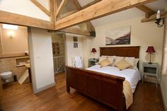 A kingsize double at the Dovecote Barns holiday cottages near York.