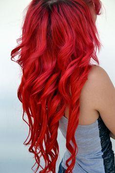 Long red hair.