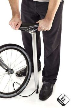 The BioLogic PostPump 2.0 Seatpost Keeps Your Bike Tires Filled With Air #bicycles #addons trendhunter.com