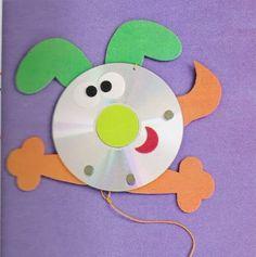 Animais feitos com CD's reciclados   Pra Gente Miúda