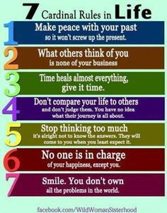 7 Cardinal Rules in Life! 3 ~ Wild Woman Sisterhood, Spiritual Networks and www.spiritualnetworks.com
