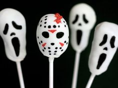 Almost Too Cute to Eat: 13 Halloween Cake Pop Recipes  The 'Scream' Mask & Jason