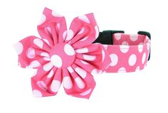 Pink Polka Dot Flower Dog Collar/ Dog Collar and Flower by The Petal and Bow (Cotton Candy Dot) ** Click image for more details. (This is an affiliate link and I receive a commission for the sales)