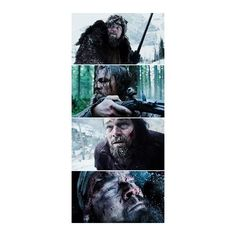 Leonardo DiCaprio and Tom Hardy Face Off in Official 'The Revenant'... ❤ liked on Polyvore featuring home, home decor and christmas home decor