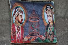 Yea that's right!!!! That's a cushion cover- King & Queen .... For price enquiry email @ hello@thebollywoodbazaar.com
