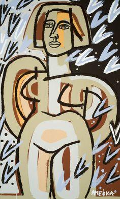"Rain like Paper Planes, 2013 Oil & Acrylic on Canvas 34"" x 56"""