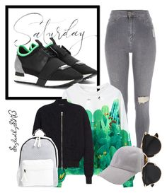 """""""A touch of Mint"""" by styledbysnb on Polyvore featuring Balenciaga, River Island, Alexander McQueen, Poverty Flats, Christian Dior, mint, sporty, WhatToWear, HowToWear and saturday"""
