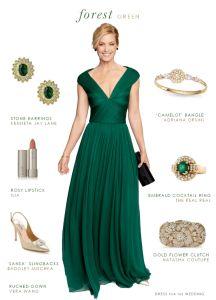 Dark green evening gown | Emerald green dress