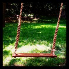backyard swing for grandkids photos!!!