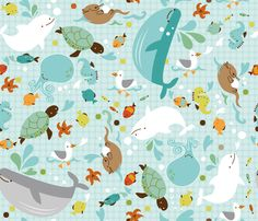 Baby seas fabric on this amazing site where you can have your own fabric printed or buy others fabrics printed to support artists and have one of a kind fabrics -genius!