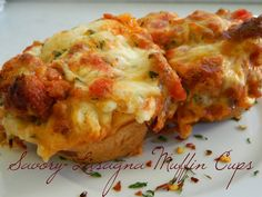 My Favorite Things: Savory Lasagna Muffin Cups