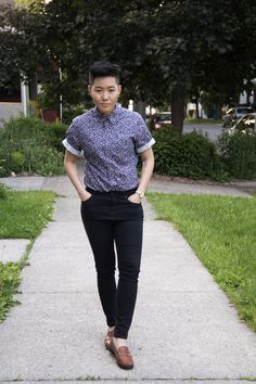 """but-im-a-tomboy: """" I've accepted an offer to walk for queer brand Haus of JAG & Co. asian queer model what's good? Tix and info Butch Fashion, Queer Fashion, Tomboy Fashion, Look Fashion, Fashion Outfits, Tomboy Style, Butch Lesbian Fashion, Urban Fashion, Fashion Styles"""