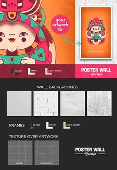 Poster and Flyer Wall Mockup by eamejia on @creativemarket