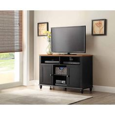 Check out this score at Walmart! if you have been looking for a tv console for your room, check out this Better Homes and Gardens Autumn Lane Black Buffet/Media Console! Get it for only $60.54! Normally $164.00!Loaded with features you'll love! Grab it while you can! Coordinates with Autumn Lane collection Ideal for use as …