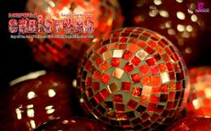 Christmas Balls and Merry Christmas Wishes Message Card