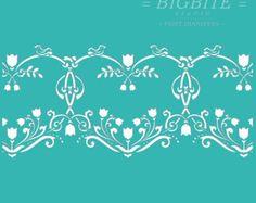 Wall Floral Heart Decorative Pattern #065 Wedding Furniture Stencil Shabby Chic
