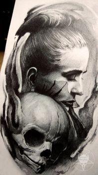 face and skull by AndreySkull