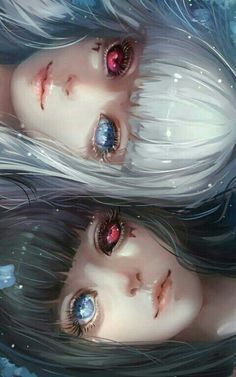 Sisters Kuro and Shiro / Tokyo Ghoul Anime Art ghoul Kuro Shiro Sisters tokyo Art Manga, Chica Anime Manga, Yandere Manga, Manga Books, Art Anime Fille, Anime Art Girl, Anime Girls, Anime Angel Girl, Dark Anime Girl
