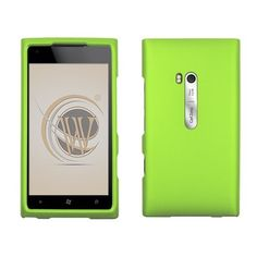 Handle a Nokia Lumia 900 Hard Cover Case - Green Texture with a big smile from #Acetag