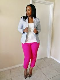 Curves and Confidence | A Miami Style Blogger: Pink and Pinstripes
