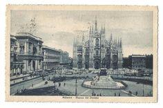 Milano vintage postcard Italian vintage door vintagepostoffice