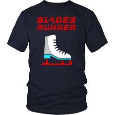 Ice Skating T-Shirt Ice Hockey Skates Shirt Runner