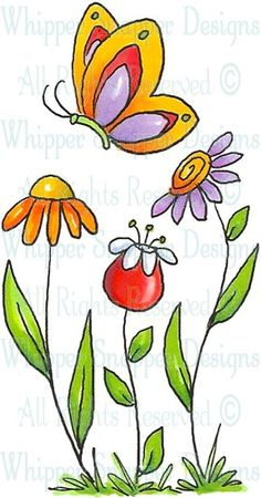 Spring Nail Designs - My Cool Nail Designs Tole Painting, Fabric Painting, Painting & Drawing, Drawing For Kids, Painting For Kids, Art For Kids, Doodle Art, Flower Doodles, Watercolor Cards