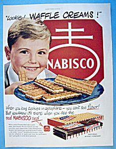 vintage nabisco ads | Vintage Ad: 1951 Nabisco Waffle Creams (Food) at Ads By Dee