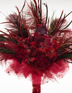 "Renaissance Wedding bouquets | Burgundy Goth Bridal Bouquet | ""The Countess"" 