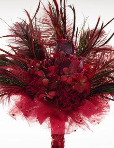 "Renaissance Wedding bouquets   Burgundy Goth Bridal Bouquet   ""The Countess""   Offbeat Bridal Bouquet ..."