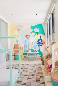 color fun in room for kids
