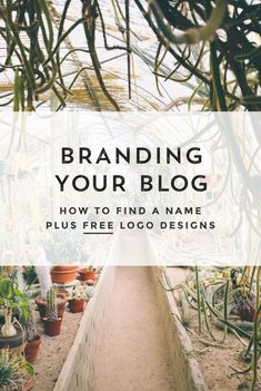 Branding identity for your blog. How to find a name for your business or blog. Plus download logo designs to complete your branding design. Click through for to up your branding design and download our free logo templates.