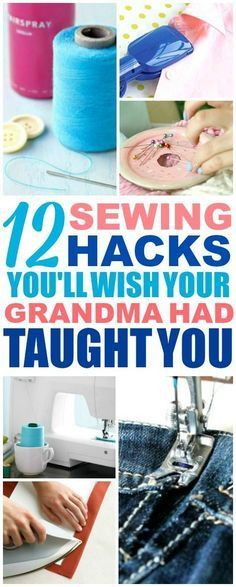 These easy sewing hacks are THE BEST! I'm so glad I found these AMAZING tips! Now I have some great sewing tips and tricks that'll make it faster and easier! Definitely pinning!