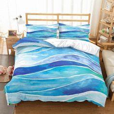 White Duvet Bedding, Ocean Bedding, Beach Bedding, Comforter Cover, Bed Duvet Covers, Duvet Sets, Duvet Cover Sets, Pillow Shams, Pillow Cases