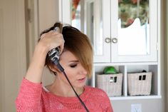 ONE little MOMMA: Flat Iron Curls for a Long Pixie- Hair Tutorial
