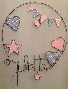 Prenom en fil de fer personnalisable décoration pour chambre d'enfant ou de bébé : Décoration pour enfants par chacha-des-etoiles
