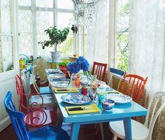 Sala de jantar - Eclética e feminina - Revista Westwing