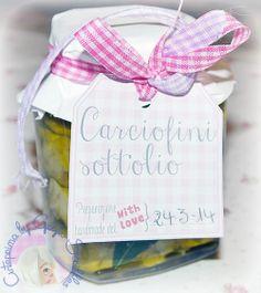 Etichetta stampabile frre per barattoli carciofini sott'olio