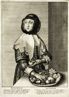 It's About Time: 17C Woman - Allegory of Autumn - Wenceslaus Hollar 1607-1677