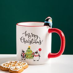Espresso Cups, Home Decor Store, Christmas Mugs, Tea Mugs, Afternoon Tea, Morning Coffee, Penguins, Cocoa, Ceramics
