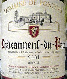 2001 Fontavin Chateauneuf du Pape