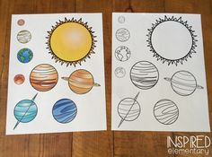 This next week at school is space week. I created this planet flip book that is a fun way to introduce the order of the planets from the sun...