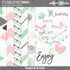 FREE February 2016 DigiScrap Parade — It's the Little Things : France M.Designs [ 41 designers ]