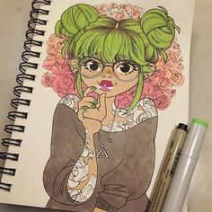 inktober make up 31 #inktober #inkedup #inkgirls #tattoo #copic #micron #rose #roses #glasses http://ift.tt/2gooZwG