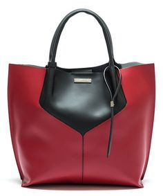Another great find on #zulily! Red & Black Color Block Leather Tote #zulilyfinds