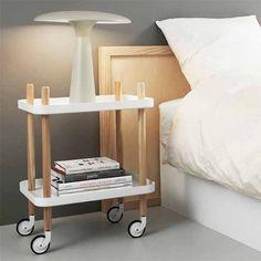 TROLLEY | SERVEERTAFEL | BUTLERTAFEL OP WIELEN  Shop @  http://www.sooo.nl/store/product/block-tafel-op-w…rmann-copenhagen/ 