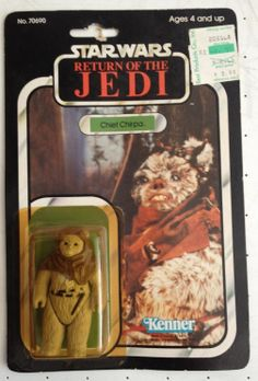 Star Wars Vintage Carded CHIEF CHIRPA MOC 1983 Kenner Figure ROTJ 77 Back 70690