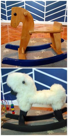 From Rocking Horse to Rocking Sheep: How-To's From HGTV Design Happens >> http://blog.hgtv.com/design/2013/04/19/the-nursery-files-from-rocking-horse-to-rocking-sheep/?soc=pinterest